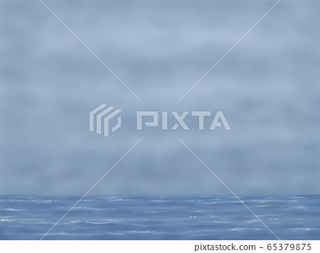 多雲的天空和大海,風景 65379875