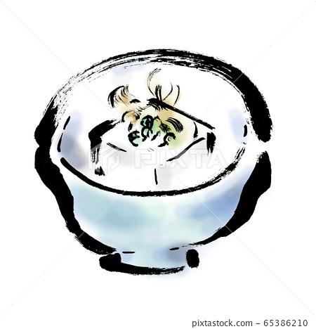 食物,一盤,一盤,食物,冷豆腐,白色背景,冷豆腐,豆腐,豆腐,插圖,毛筆繪畫,毛筆寫作, 65386210