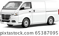 Commercial vehicle illustration One-box sales vehicle Panel van illustration Cold storage vehicle Original design 65387095