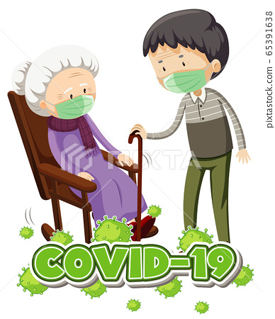Poster design for coronavirus theme with old 65391638