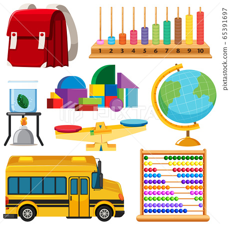 Set of stationary tools and school 65391697