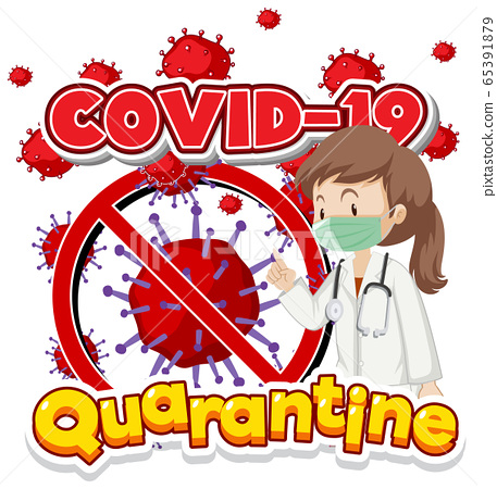 Poster design for coronavirus theme with doctor 65391879