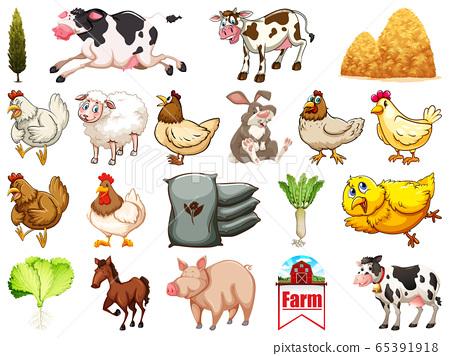 Set of farm animals 65391918