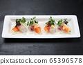 鯛魚和鮭魚薄片 65396578