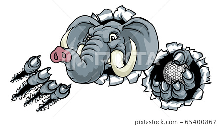 Elephant Golf Ball Sports Animal Mascot 65400867