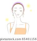 一个女人在做皮肤护理(穿)的插图 65401156
