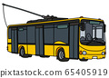 The yellow trolley bus 65405919