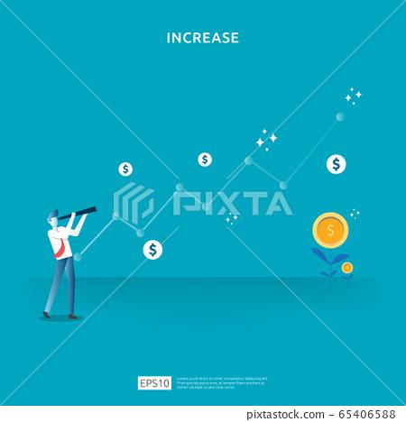 Finance performance concept. business profit 65406588