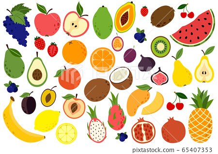 Doodle fruits collection 65407353