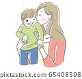 孩子和母亲的吻 65408598