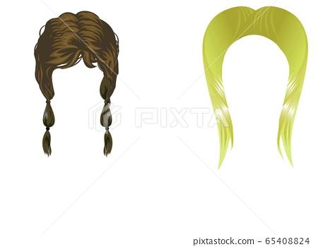 Female Hairstyles Set.illustration design  65408824