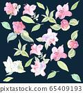 Seamless pattern of camelia flower 65409193