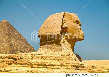 The Pyramids and the Sphinx at Giza. Egypt. September 2008 65415798