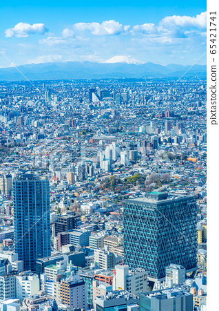 도시 풍경 선샤인 시티 60 전망대에서 본 관동 평야 후지산 【도쿄】 65421741