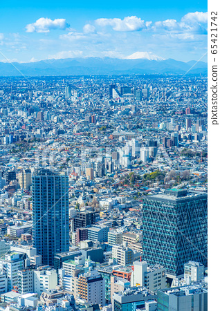 도시 풍경 선샤인 시티 60 전망대에서 본 관동 평야 후지산 【도쿄】 65421742
