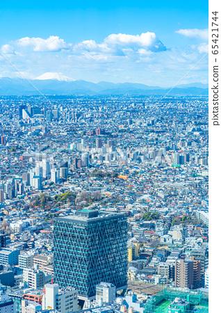 도시 풍경 선샤인 시티 60 전망대에서 본 관동 평야 후지산 【도쿄】 65421744