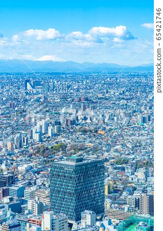 도시 풍경 선샤인 시티 60 전망대에서 본 관동 평야 후지산 【도쿄】 65421746