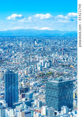도시 풍경 선샤인 시티 60 전망대에서 본 관동 평야 후지산 【도쿄】 65421749