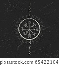 Abstract runic symbols background 65422104