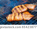 Squid Grilled Barbecue Squid Poppy Grilled over Charcoal 65423877
