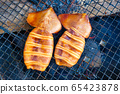 Squid Grilled Barbecue Squid Poppy Grilled over Charcoal 65423878