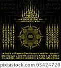 Muay Thai yellow sacred symbol background 65424720
