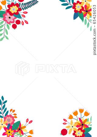 抽像美麗的玫瑰花花卉插畫 65426053