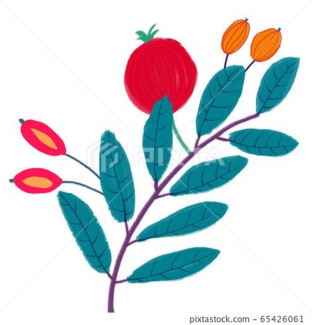 抽像美麗的玫瑰花花卉插畫 65426061