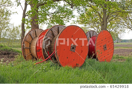 Huge roll of cable for underground cable 65429918