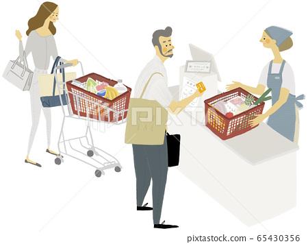 收銀機購物圖 65430356