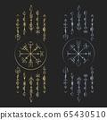 Dark runic symbols dreamer deco 65430510