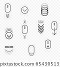 Web page scroll down symbols 65430513