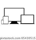 Black outline digital gadgets 65430515