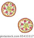 像披薩一樣的圓點圖案無縫模式 65433317