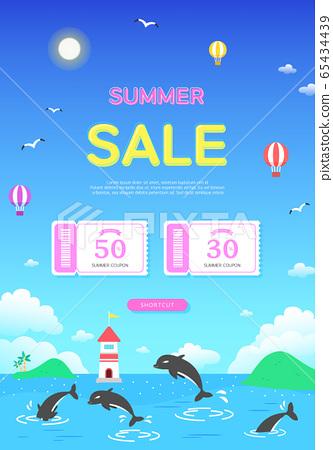 凉爽的暑假购物弹出窗口8 65434439