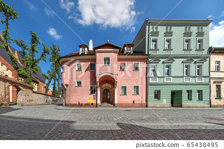 The oldest preserved residential building in Zabkowice Slaskie, Poland 65438495
