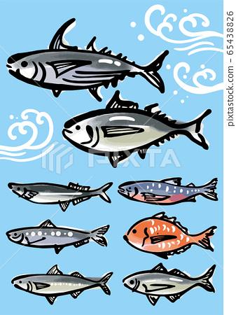 魚的Sumi-e 65438826