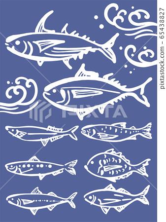 魚的Sumi-e 65438827