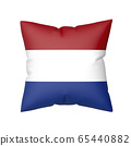 Pillow with the flag of the Netherlands 65440882