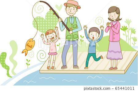 가족 행복 단짝 행복의 일러스트 소재 65441011