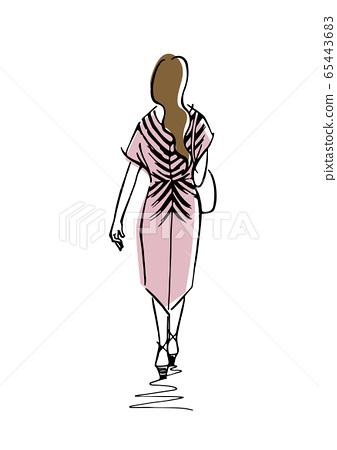 Fashionable girl 65443683
