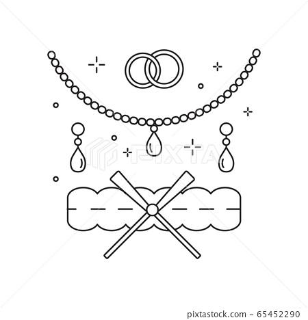 Bridal Jewelery and Garter Line Art Icon 65452290