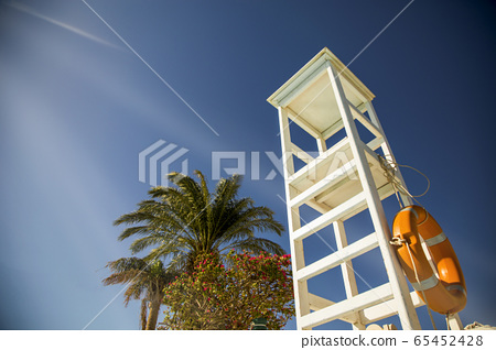 Observation tower on the beach 65452428