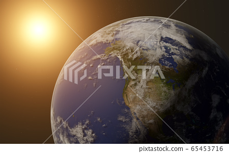 Sunrise over the planet earth 65453716