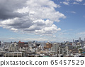 Tokyo sky and city landscape with floating clouds 65457529