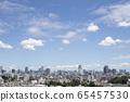 Tokyo skyline with blue sky copy space 65457530