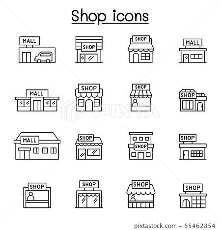 Set of shop line icons 65462854