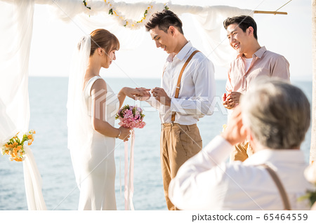 로맨틱 한 리조트 웨딩 65464559
