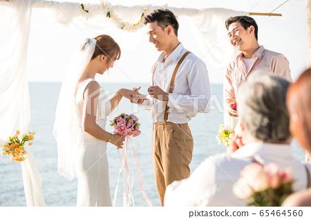 로맨틱 한 리조트 웨딩 65464560