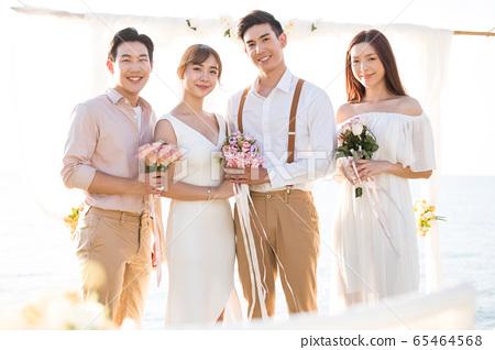 로맨틱 한 리조트 웨딩 65464568